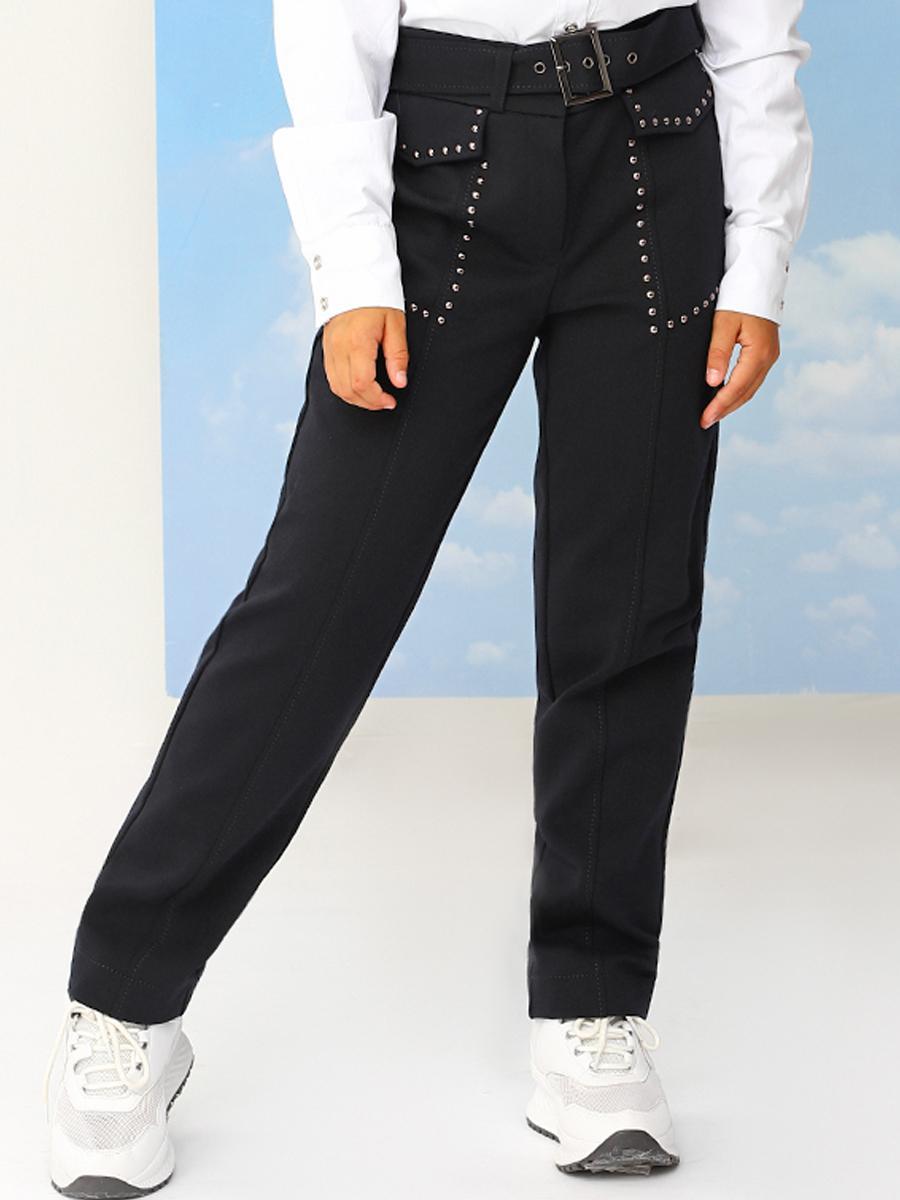 брюки noble people для девочки, синие