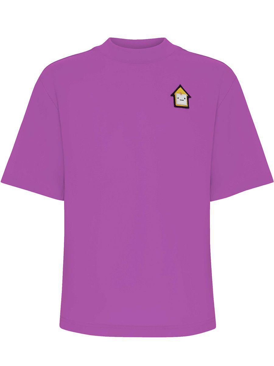 футболка смена для мальчика, фиолетовая