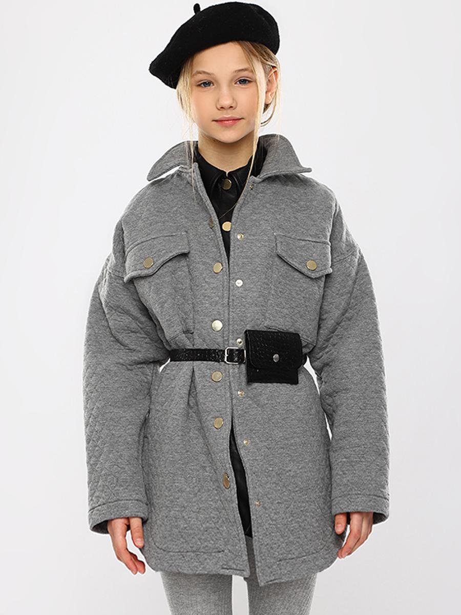 пальто y-clu' для девочки, серое