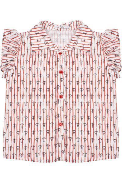 Блуза, Y-clu', Разноцветный, Хлопок-90%, Эластан-10%, Женский  - купить со скидкой