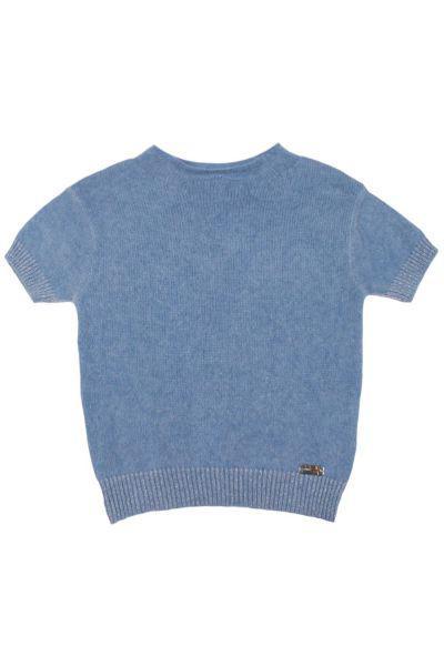 Джемпер для девочки 54KD56944 белый Gaudi голубой