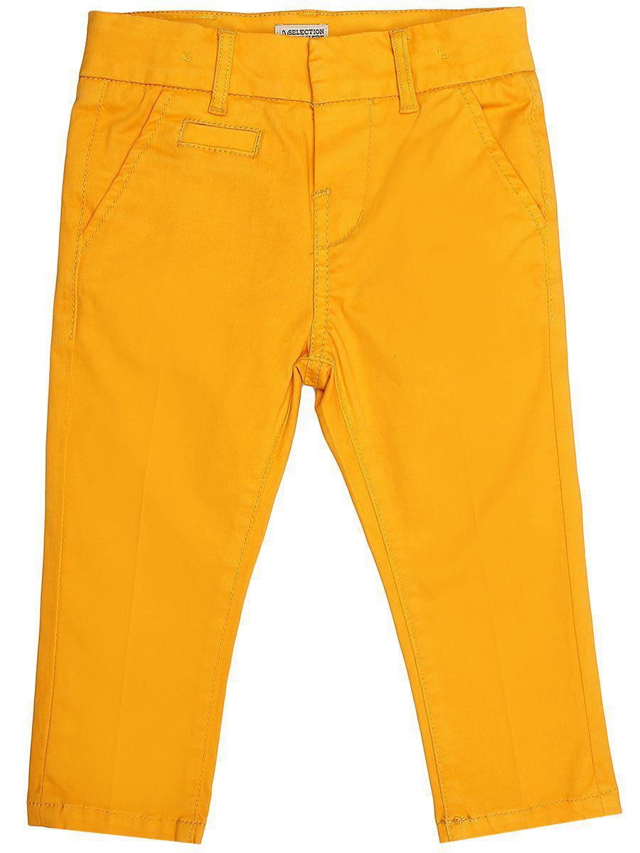 брюки y-clu' для девочки, желтые