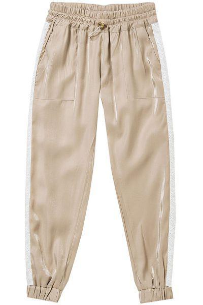 брюки gaialuna для девочки, бежевые