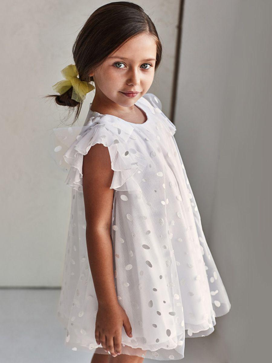 платье mayoral для девочки, белое