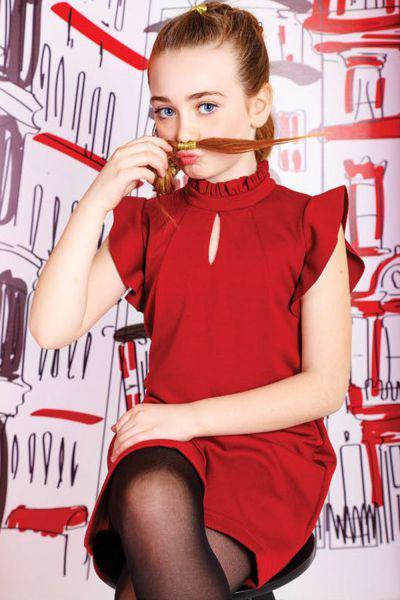 Платье для девочки Y9126 красный Y-clu`, Китай (КНР)