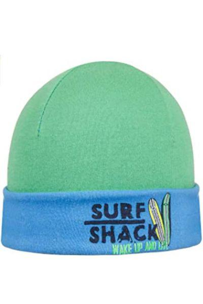 шапка doell для мальчика, зеленая