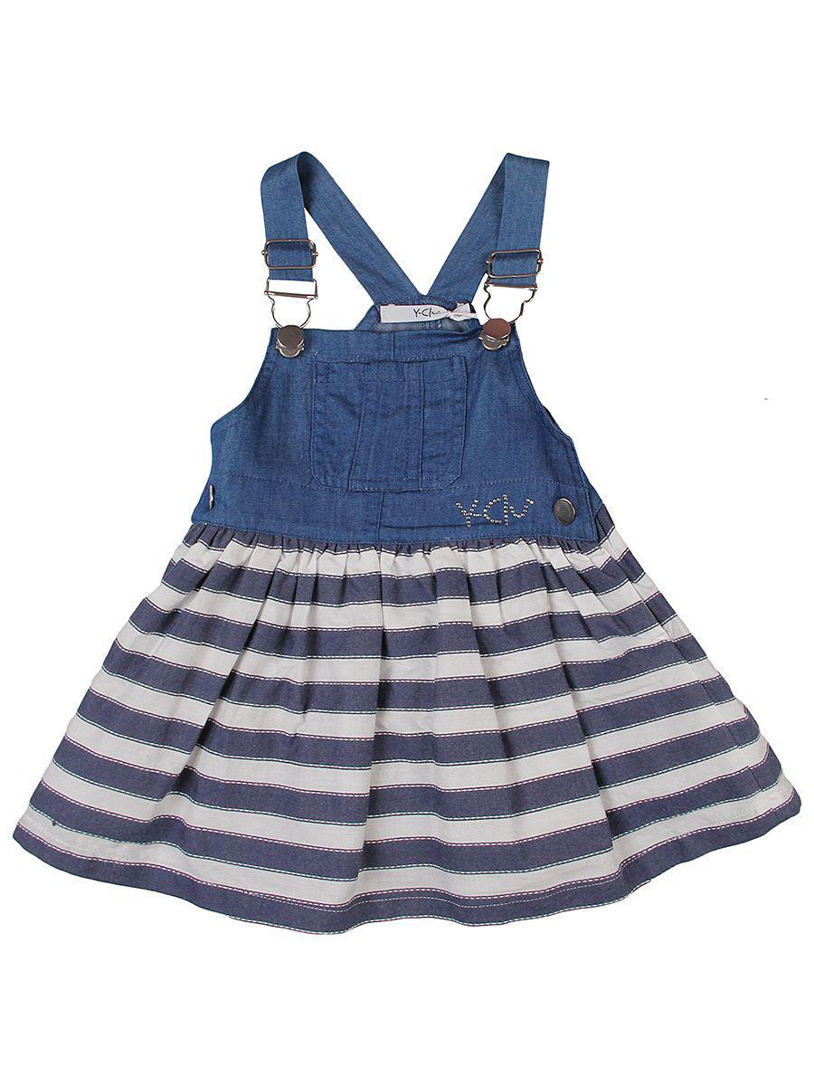 сарафан y-clu' для девочки, синий