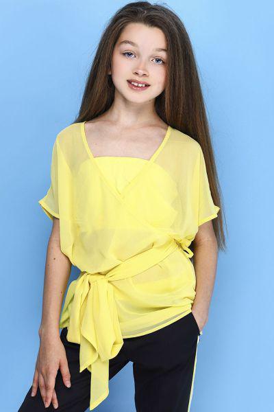 Купить Блуза, To Be Too, Желтый, Полиэстер-100%, Женский