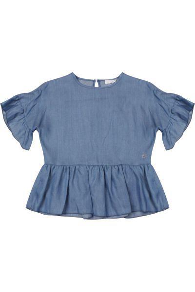 Блуза, Byblos, Голубой, Лён-100%, Женский  - купить со скидкой