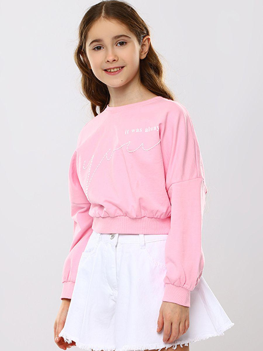 свитшот to be too для девочки, розовый
