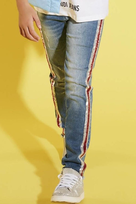 джинсы gaudi для девочки, голубые