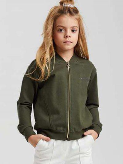 куртка silver spoon для девочки, зеленая