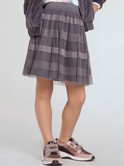 юбка mayoral для девочки, серая