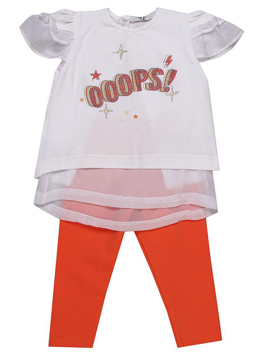 футболка y-clu' для девочки, разноцветная