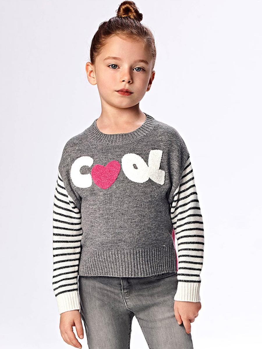 свитер mayoral для девочки, серый