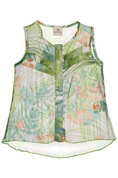 Купить Блуза, Trybiritaly, Зеленый, Полиэстер-100%, Женский
