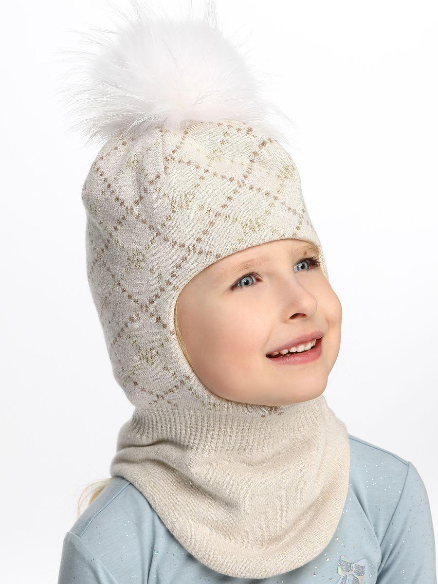 Купить Шлем, Noble People, Бежевый, Шерсть-43%, Вискоза-28%, Полиамид-14%, Люрекс-8%, Кашемир-7%, Женский