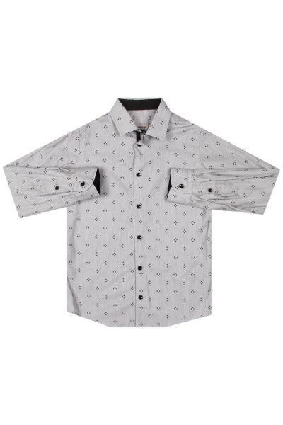 Купить Рубашка, Ronnie Kay, Серый, Хлопок-94%, Эластан-6%, Мужской