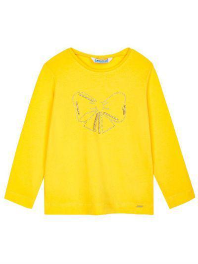 лонгслив mayoral для девочки, желтый
