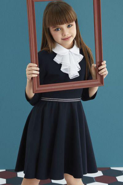 Купить Платье, Noble People, Синий, Хлопок-80%, Полиэстер-15%, Лайкра-5%, Женский