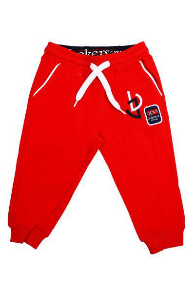 брюки jeckerson для девочки, красные