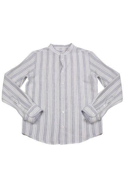 рубашка byblos для мальчика, серая