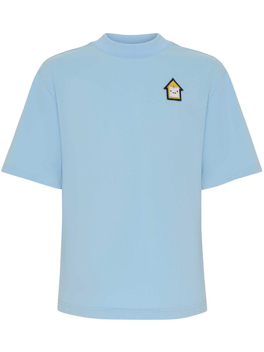 футболка смена для мальчика, голубая