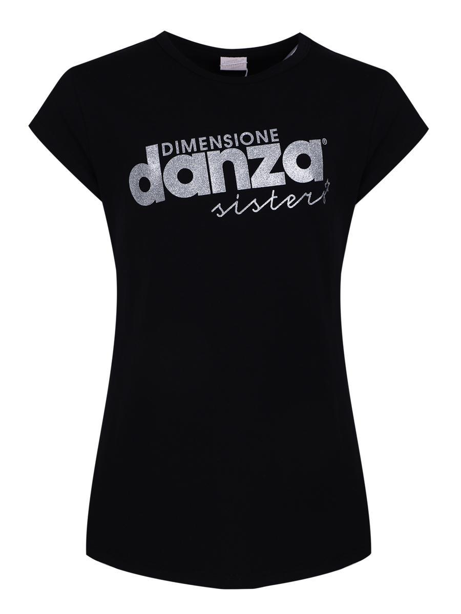 футболка dimensione danza для девочки, черная