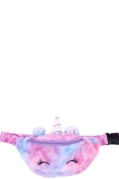 Купить Сумка, Multibrand, Розовый, UNI, Искусственный мех-100%, Женский