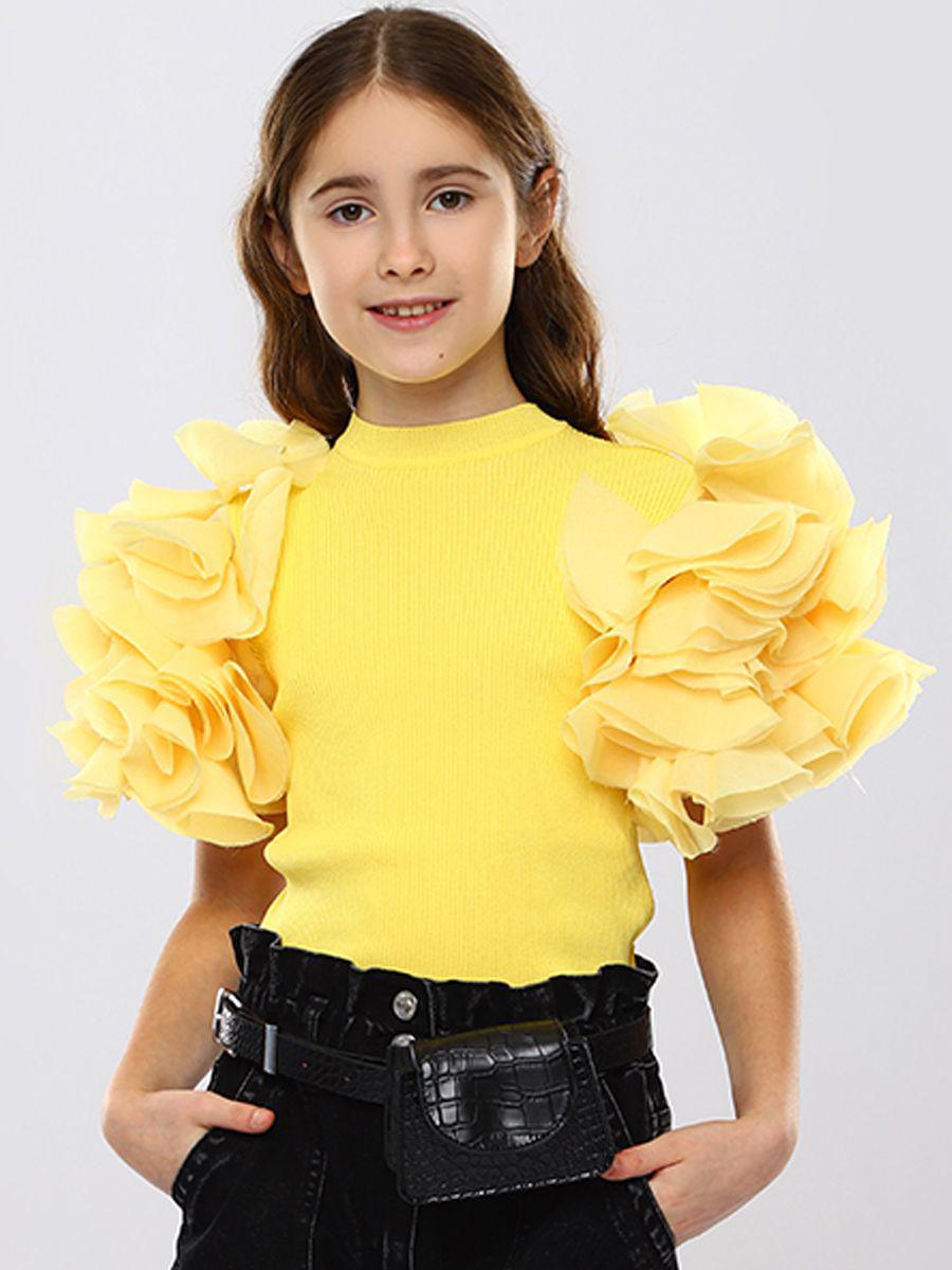 футболка to be too для девочки, желтая