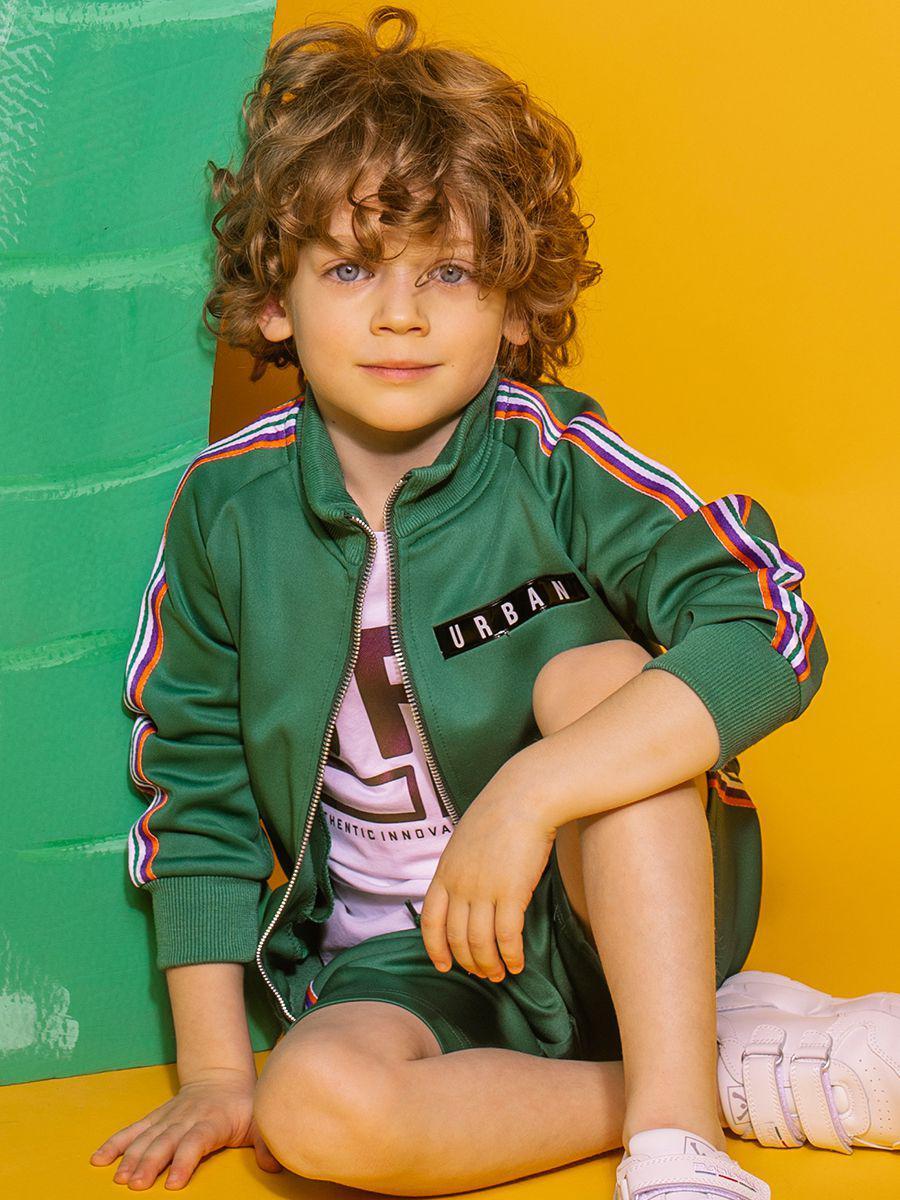 толстовка y-clu' для мальчика, зеленая