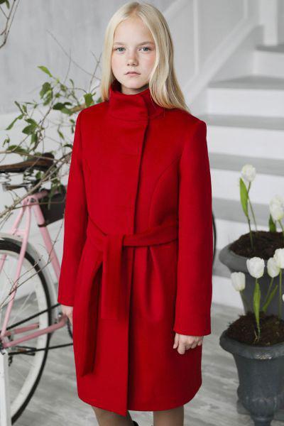 Пальто, Mamma Mila, Красный, Шерсть-95%, Альпака-5%, Женский  - купить со скидкой
