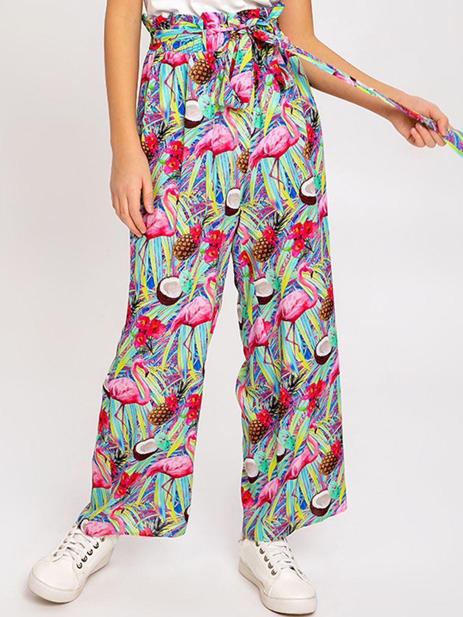 брюки noble people для девочки, разноцветные