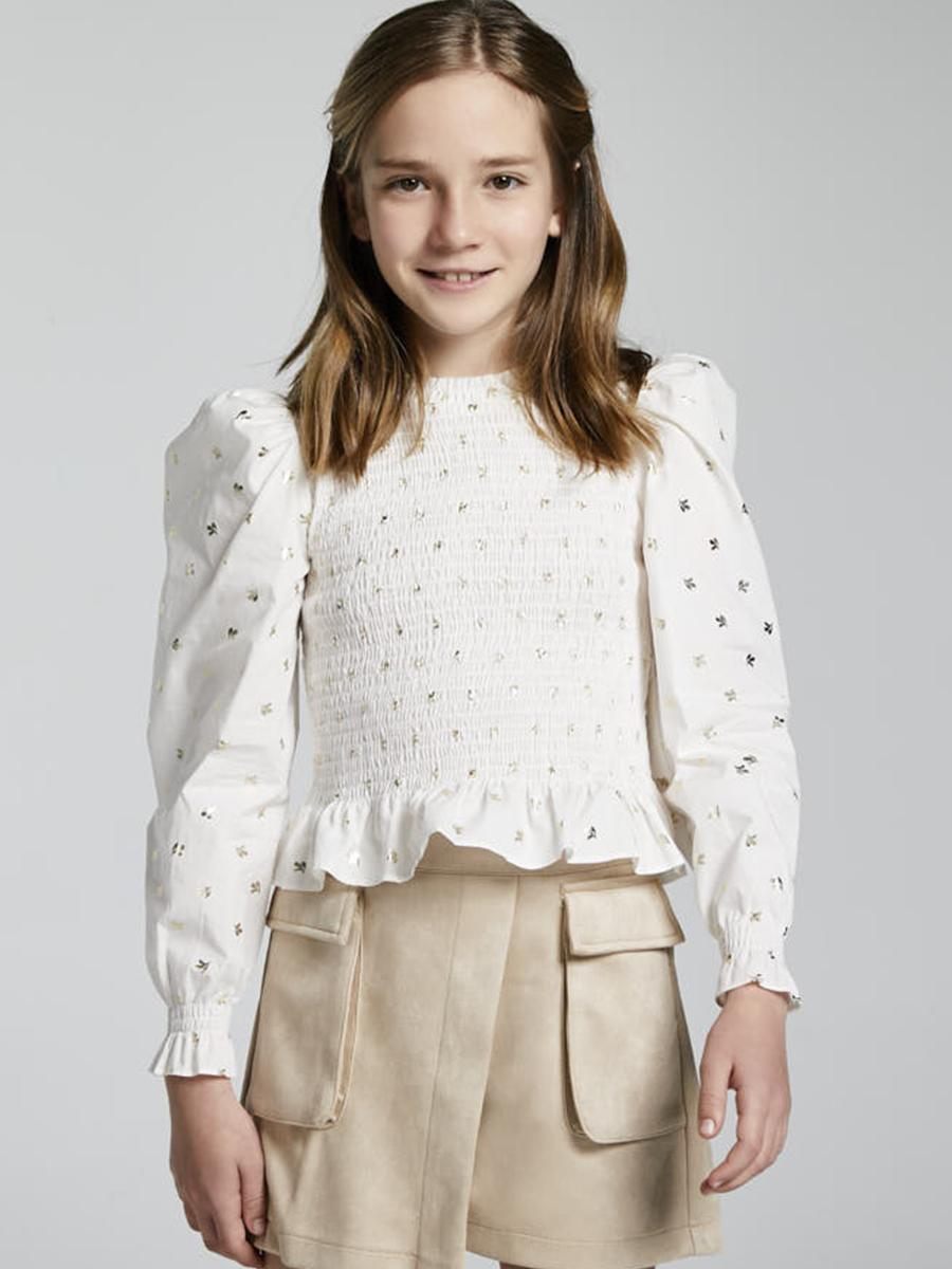 блузка mayoral для девочки, белая