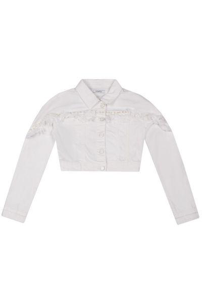 Купить Куртка, To Be Too, Белый, Хлопок-98%, Эластан-2%, Женский