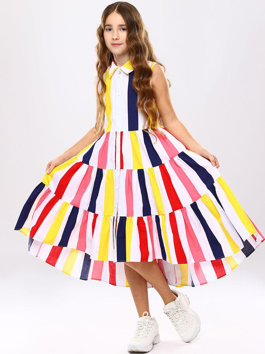 платье-рубашки noble people для девочки, разноцветное
