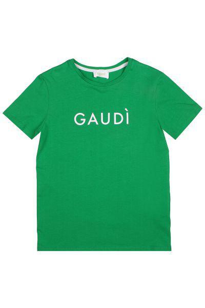 Купить Футболка, Gaudi, Зеленый, Хлопок-100%, Мужской