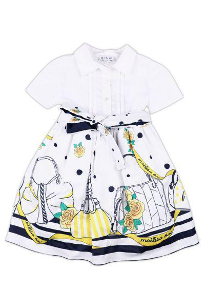 платье meilisa bai для девочки, белое