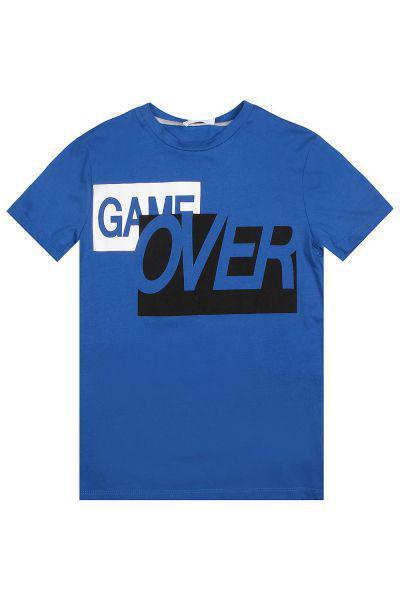 футболка gaudi для мальчика, голубая