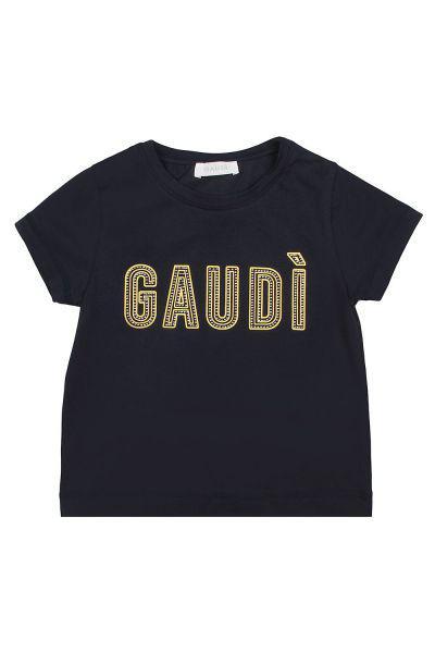 футболка gaudi для девочки, синяя