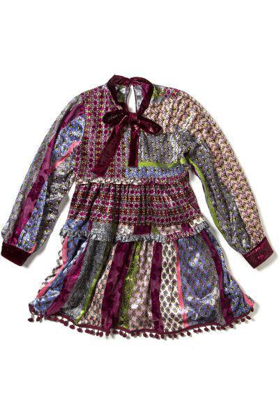 Купить Платье, Custo Barcelona, Разноцветный, Хлопок-100%, Женский