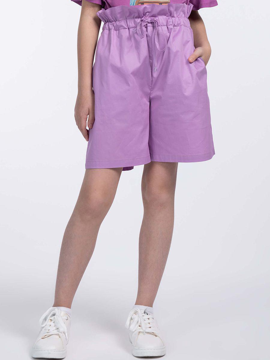 шорты смена для девочки, фиолетовые