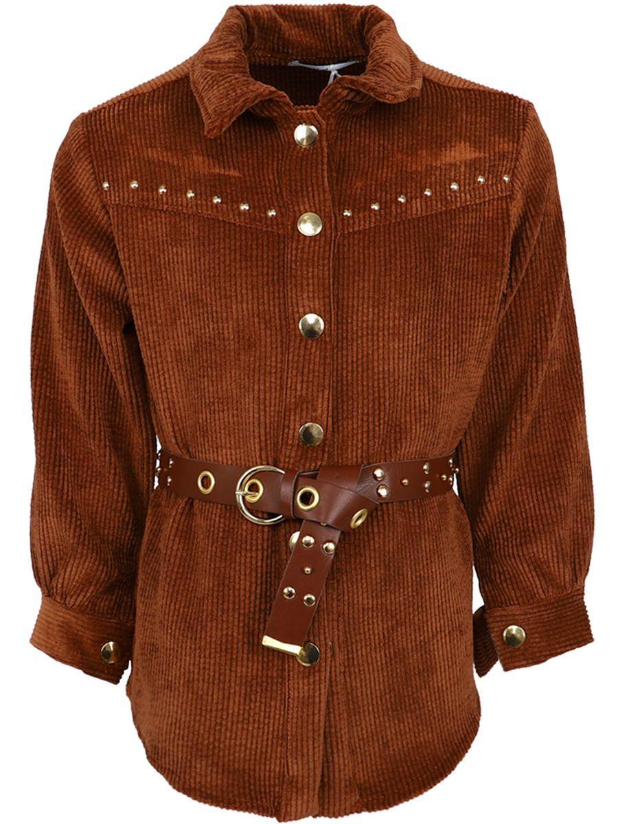 платье-рубашки y-clu' для девочки, коричневое