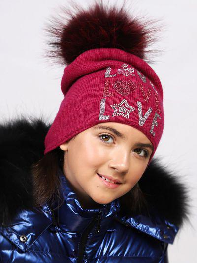 шапка noble people для девочки, розовая