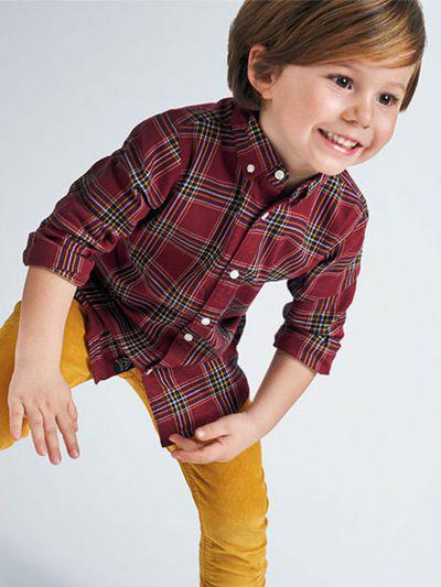 рубашка mayoral для мальчика, красная