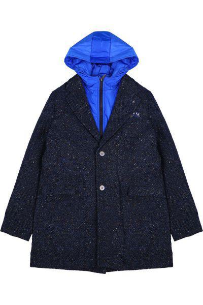 Купить Пальто, Manuel Ritz, Синий, Шерсть-50%, Полиэстер-45%, Полиамид-5%, Мужской