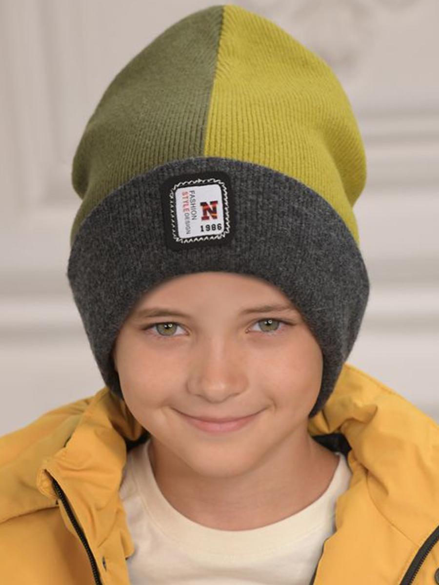 шапка dan&dani для мальчика, зеленая