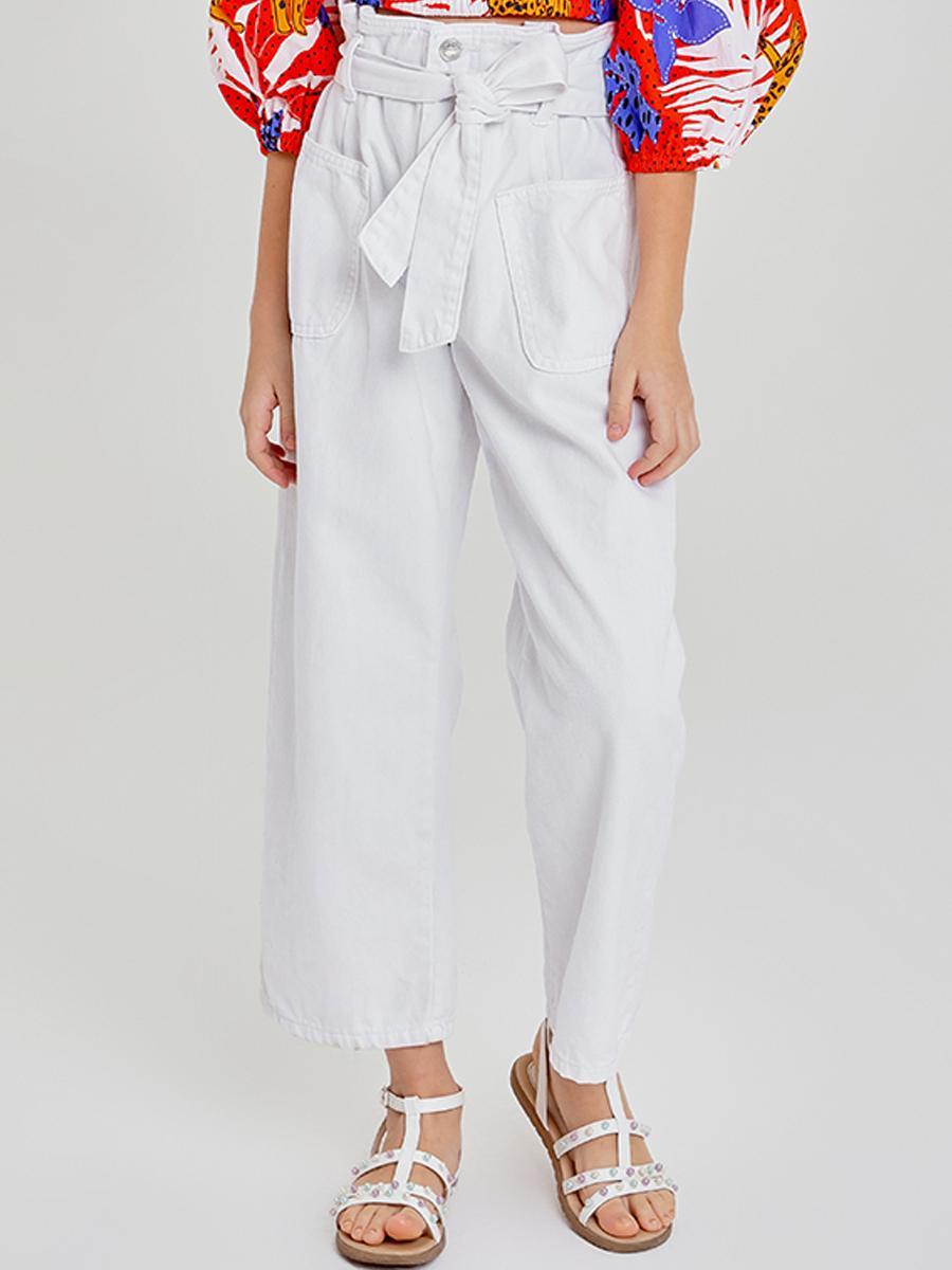 брюки to be too для девочки, белые