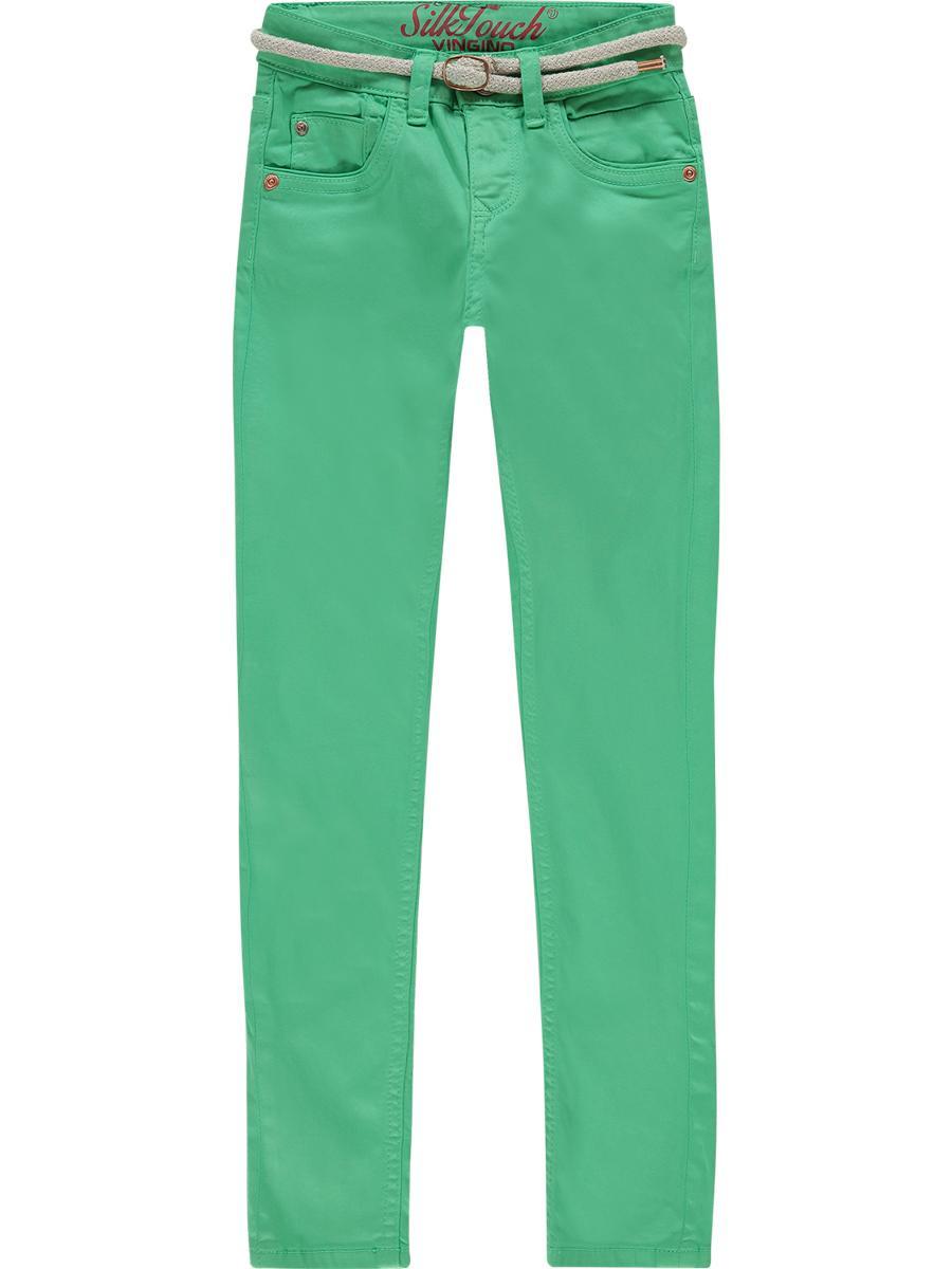 джинсы vingino для девочки, зеленые