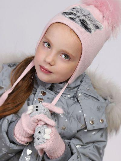 перчатки noble people для девочки, розовые